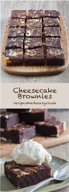 Cheesecake! Brownies! How can you resist a combination of the two? Cheesecake Brownies by Recipes Made Easy #Easybrownies #easybake #easyrecipe via @jacdotbee