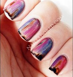 rustic nail art, fingernails, funky manicures.
