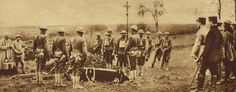 Burial services for first American soldiers killed in combat with the Germans, 3 Nov 1917
