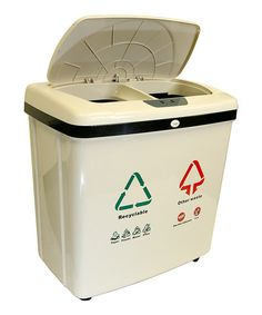 iTouchless Dual-Compartment Sensor Touchless Recycle Trash Can | zulily