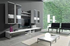 Wohnwand Xinto In Weiß + Schwarz Hochglanz Inkl. LED Beleuchtung NEU, Die  Lieferzeit Beträgt