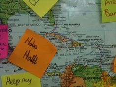 PRAY FOR THE WORLD... This activity works best if you have a very large world map or globes that students can stick post-it note prayers onto.