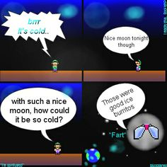 Blizzplanets Comic - It's cold out tonight. Mario Comics, Super Mario Bros, Cold, Collection, Comics, Marriage