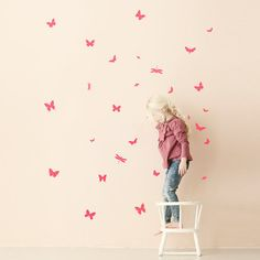 Vinilo Mini Butterflies Neon