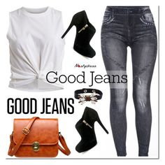 """""""Get the Look: High-Waisted Jeans- ND 1"""" by paculi ❤ liked on Polyvore"""