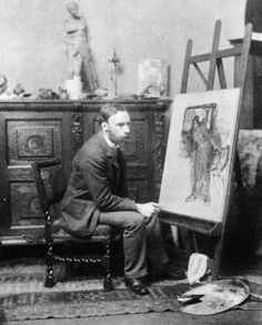 """John William Waterhouse (1849-1917) was an English painter known for working in the Pre-Raphaelite style. He worked several decades after the breakup of the Pre-Raphaelite Brotherhood, which had seen its heyday in the mid-nineteenth century, leading to his sobriquet """"the modern Pre-Raphaelite"""".  Borrowing stylistic influences not only from the earlier Pre-Raphaelites but also from his contemporaries, the Impressionists, his artworks were known for their depictions of women."""
