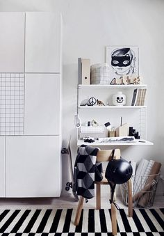 Kids Work spaces in Black & White | Ferm Living