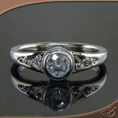 Follow the image link to see more angles of this gorgeous #custom #ring from #greenlakejewelry