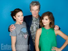 Michelle Gomez, Peter Capaldi, Jenna Coleman, 'Doctor Who' #EWComicCon  Image Credit: Michael Muller for EW