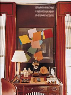 """David Hicks: """"It is perhaps I who have made tablescapes… into an art form; indeed, I invented the word,"""" he wrote. """"What is important is not how valuable or inexpensive your objects are, but the care and feeling with which you arrange them."""""""
