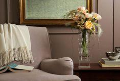 Cockscomb, Feather Grass, and Juliet Roses make a beautiful arrangement
