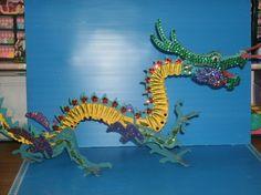 Dragon kit handmade by Joan Croll