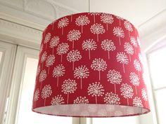 Lampenschirme - Lampenschirm filigranes Muster rot! - ein Designerstück von Lillyberlin bei DaWanda
