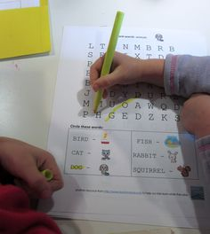 letter and word learning: cora's word search puzzles - teach mama