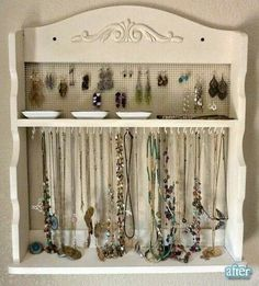 Spice rack into jewelry holder