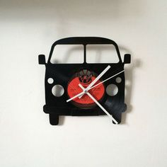 VW Split Screen Camper clock Vinyl Record Clock Vintage retro Design Red Label Shared by Motorcycle Clothing - Two-Up Bikes Vinyl Record Crafts, Vinyl Record Clock, Vinyl Music, Vinyl Crafts, Vinyl Art, Vinyl Records, Clock Vintage, Retro Clock, Clock Art