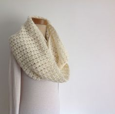 I have designed and crocheted this double-wrap infinity scarf / neck-warmer in a lovely, squidgey -soft, alpaca blend yarn. An ' endless loop' that can than can be worn as is or wrapped twice ! Neck Scarves, Neck Warmer, Womens Scarves, Gift Tags, Cowl, I Shop, Knit Crochet, Infinity, Challenge