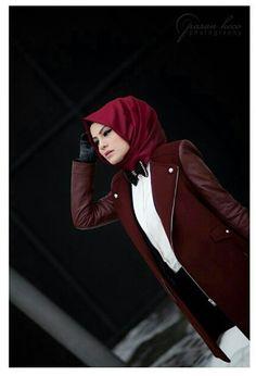 Boyish hijab look