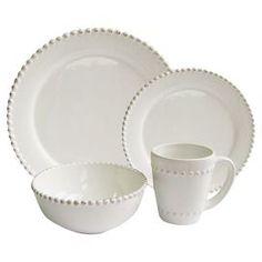 16-Piece Bianca Dinnerware Set in White