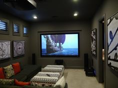 Various home theaters contemporary-home-theater