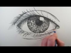 How to draw a realistic eye, step by step in real time.