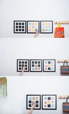 Diy Crafts Ideas : These handcrafted wooden wall frames are magnetic allowing you to switch the lit