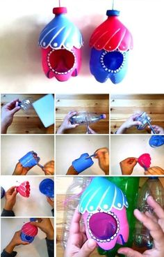Striking DIY Gift Ideas Befitting Every Occasion and Relation Make simple and handy homemade gifts with easily available materials. Craft useful supplies for your dear ones as a DIY gift to cherish. Explore our wonderful DIY gift ideas for trying out. Kids Crafts, Diy Craft Projects, Diy And Crafts, Recycling Projects For Kids, Teen Projects, Creative Crafts, Plastic Bottle Art, Recycle Plastic Bottles, Pet Bottle