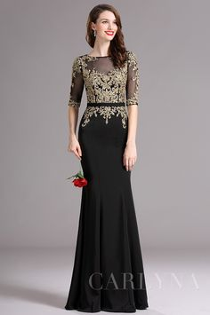 Carlyna Black Formal Gown with Illusion Sweetheart Neckline and Beaded Modern Filipiniana Dress, Black Formal Gown, Western Gown, Special Dresses, Formal Looks, Trendy Outfits, Beautiful Dresses, Lace Dress, Evening Dresses