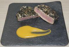 Atún a baja temperatura marinado con naranja y soja. Te mostramos las virtudes de la técnica sous vide para pescados de difícil cocinado como el atún.