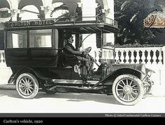 Carlton's vehicle 1920  I like the way the cab is open
