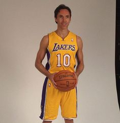 """Nash in a """"Laker's jersey"""""""