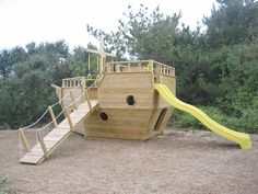 I am positive my goats want this - 8' x 14' Pirate Ship playhouse