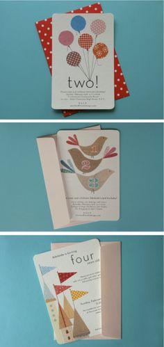 Cute birthday invitations