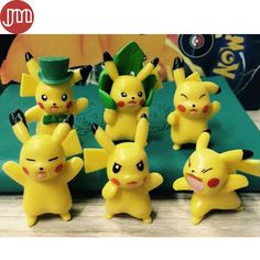 Find More Action & Toy Figures Information about New 6pcs Pokemon Pikachu…