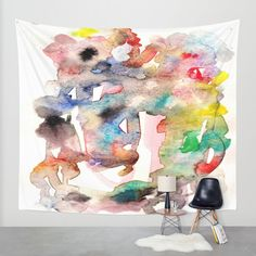 Watercolor 758 ing Wall Tapestry by Osile Ignacio | Society6
