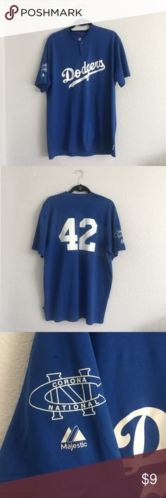 Dodgers Jersey Used, has a few stains and runs in the threads, see pics. Tops