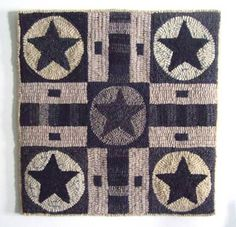 Gameboard Rug (design by Polly Minick)  (in different colors than the one I pinned yesterday). I like them both.