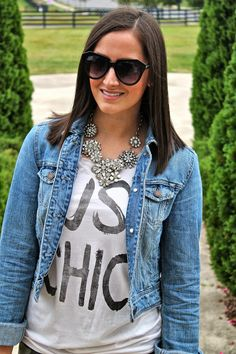 Wake Up Your Wardrobe What I Wore: Just Chic Statement Tee, Camo Jeans, Steve Madden Ravesh Pumps, Phillip Lim for Target