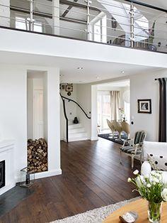 White & dark floors.