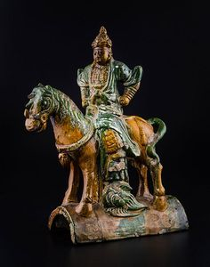 Tuile décorée d'un cavalier dynastie Ming -✖️More Pins Like This of At FOSTERGINGER @ Pinterest✖️