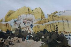 """""""Wind Blown Sand"""" by Sherry Meidell hung at the Sears Dixie Invitational down in St. George."""