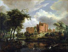 Meindert Hobbema - The ruins of the castle Broderode