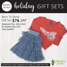 Born To Shine Gift Set | Girls Holiday Collection | www.peekaboobeans.com