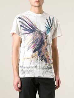 Pierre Balmain T-Shirt mit Adler-Print
