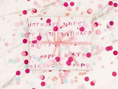"For my best friend Maura's birthday party (which is featured in my new book, Celebrate), I made hand-painted ""Happy Birthday!"" wrapping paper using several shades of pink paint. It's amazing how elegant a DIY watercolor design can look, even if you don't consider yourself a talented artist. XO Lauren"