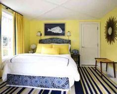 1000 Ideas About Navy Yellow Bedrooms On Pinterest Yellow Accents Yellow