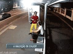 Possessed by the soul of a killer. this gif is terrifying but hilarious. I would've died right then and there