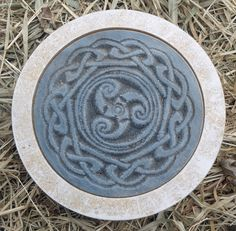 Gostatue MOLD stepping stone Gothic Wicca Celtic mold plaster concrete mould
