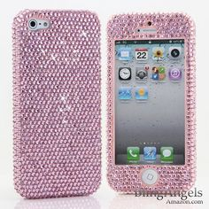 "iPhone 6 (4.7"") Bling Case - BlingAngels® Luxury Bling iphone 6 (4.7"") Case Cover Faceplate Swarovski Crystals Diamond Sparkle bedazzled jeweled Design Front & Back Snap-on Hard Case (100% Handcrafted by BlingAngels) (Light Pink Crystals Design) BlingAngels http://www.amazon.com/dp/B00NVSE50E/ref=cm_sw_r_pi_dp_fYvrub10F4AER"