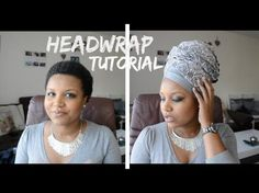 Headwrap tutorial #2 / Attaché de foulard, lesso, turban - YouTube